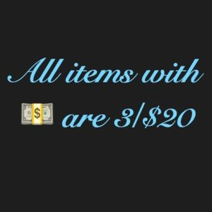 3 for $20 Spring Sale!